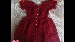 getlinkyoutube.com-Платье на девочку СПЕЛАЯ ВИШНЯ. Часть 2. Knitting dress for girls