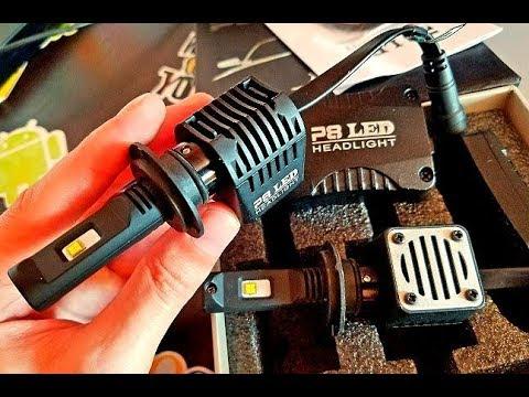 Это Жесть! Самые Яркие LED Лампы в Ближний Свет 10000LM 80 Вт AcooSun чипы Philips H7