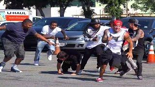 getlinkyoutube.com-Gang Jump Prank Gone Wrong