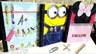 Vero Vi 💋 3 IDEAS PARA DECORAR TUS CUADERNOS 💜