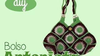 getlinkyoutube.com-Tutorial: Bolso con #anillas de lata #GrannySquares