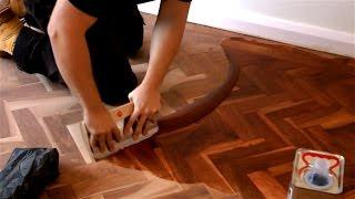 getlinkyoutube.com-How to Fill a Wooden Floor