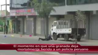 getlinkyoutube.com-Explota granada a policía peruano (video)