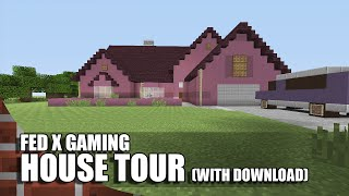 getlinkyoutube.com-Fed X Gaming's Real House In Minecraft!