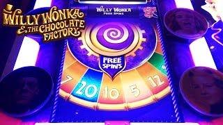 getlinkyoutube.com-Willy Wonka 3-Reel Slot Bonus - Wonka Free Spins, Big Win!  Multiple Features and Re-Triggers!
