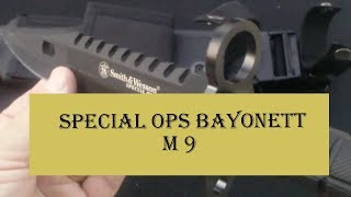 getlinkyoutube.com-Special Ops Bayonet Knife M9 SW3B from Smith and Wesson