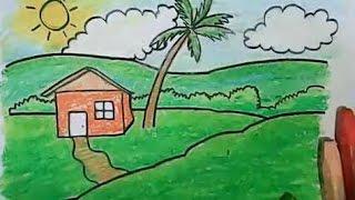 getlinkyoutube.com-cara menggambar pemandangan untuk anak anak