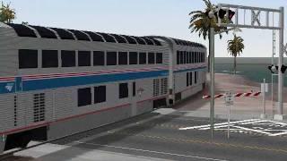 getlinkyoutube.com-MSTS A 100 Car Amtrak Train