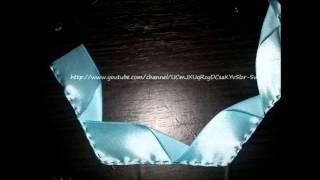 getlinkyoutube.com-Розы из атласных лент + парящая чашечка