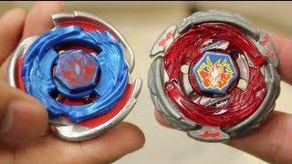 getlinkyoutube.com-BATTLE: Cosmic Pegasus W105R²F VS Wing Pegasus 90WF - Beyblade Metal Fury 4D