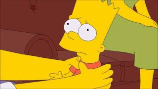 Epic Homer struggling Bart - The Simpsons.