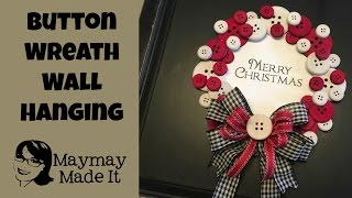 getlinkyoutube.com-Button Christmas Wreath Wall Hanging