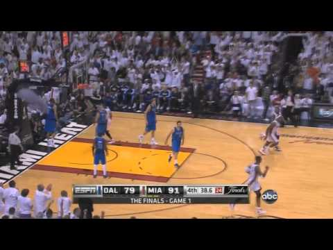 HD - LeBron sick alley oop finish off the pass from D-Wade - Heat vs. Mavs Game 1