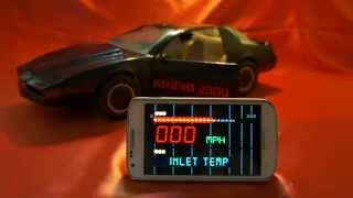 getlinkyoutube.com-KITT KNIGHT RIDER 2000 CAR MICHAEL KNIGHT K.I.T.T. K.A.R.R. VOICE BOX CELL PHONE APP