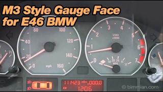 getlinkyoutube.com-M3 Style Gauge Face for E46 BMW