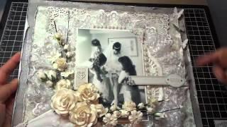 getlinkyoutube.com-12x12 Wedding Scrapbook Layout: Another I Am Roses challenge!