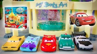 getlinkyoutube.com-Cars Color Changers 2015 Series Lightning McQueen Disney Cars Color Change Ramone's Playset