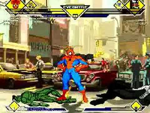 Mugen - Spiderman &amp; Cyclops Vs Venom &amp; Lasher