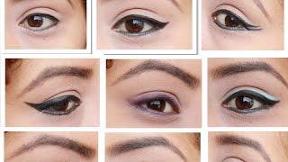 getlinkyoutube.com-10 Formas de delinear tus ojos! / 10 different eyeliner styles. Mafer Benites