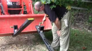 getlinkyoutube.com-Titan Clamp on Pallet Fork Tines 4000lbs Kubota L3301 Loader Bucket Tractor Review