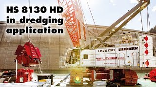 getlinkyoutube.com-Liebherr – Duty cycle crawler crane HS 8130 HD in dredging application