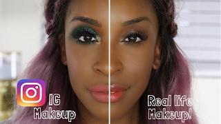 getlinkyoutube.com-IG Makeup Vs. Real Life Makeup | Jackie Aina