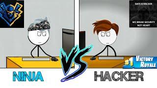 NINJA vs HACKER in the year 2050.