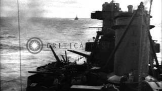 getlinkyoutube.com-US Task Force attacks Japanese positions on Island of Wotje in Gilbert and Marsha...HD Stock Footage