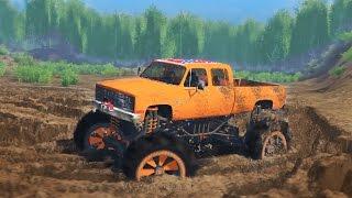 getlinkyoutube.com-MUDDING CHALLENGE! Chevy Mud Truck 4x4 Off-Roading, Mudding, & Hill Climbing! (SpinTires)