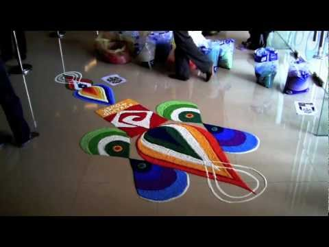 The art of 'Kolam' making for the festival of lights
