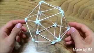 getlinkyoutube.com-How to make a Cotton Swab Icosahedron