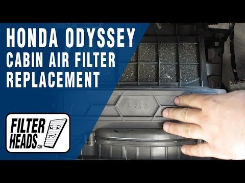 How to Replace Cabin Air Filter 2009 Honda Odyssey