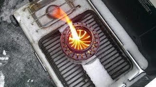 "getlinkyoutube.com-DIY Stainless Steel Woodgas Stove v3.0 a.k.a ""The Rocket!"""