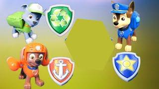 getlinkyoutube.com-PAW PATROL Nickelodeon Paw Patrol Chase, Rocky, Zuma Action Pep Set Toys Video Unboxing