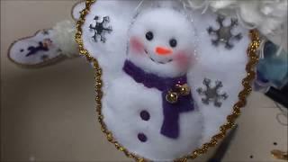 getlinkyoutube.com-Manualidades para Navidad: Porta Cubierto de Navidad