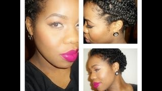 "getlinkyoutube.com-""natural hair"": EASY protective style FOR TWO STRAND TWIST"