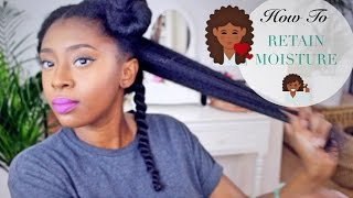 Moisturise DRY Natural Hair In 4 Easy Steps 💆🏾🔢| Retain Moisture & Length