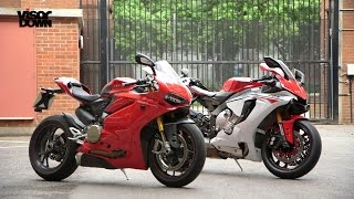 getlinkyoutube.com-Yamaha R1 vs Ducati 1299 Panigale S | Visordown Back-to-Back Test