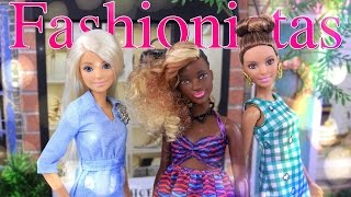 Unbox Daily: Barbie Fashionistas Double Denim, Zig & Zag, Emerald Check - Doll Review - 4K