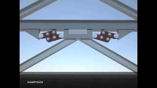 getlinkyoutube.com-Seismic protection of the building using friction dampers with inverted V bracing