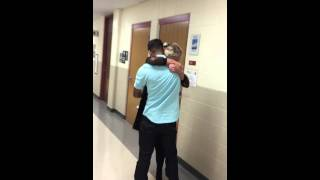 getlinkyoutube.com-Marine surprises His Girlfriend in the middle of her Math class!!