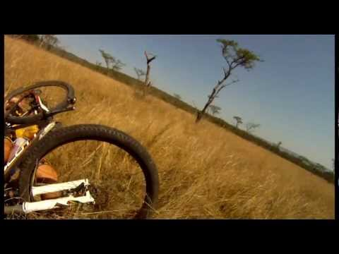 Mountain Biker gets taken out by BUCK - CRAZY Footage - Only in Africa[AFRICAX5.TV]