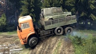 getlinkyoutube.com-SPINTIRES 2014 Full Version Preview - Loading the UAZ in the Kamaz and Transporting it