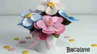 getlinkyoutube.com-Artesanato Flores de Feltro para Decoração - Dia das Mães, DIY, Handmade
