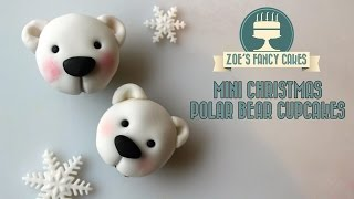 getlinkyoutube.com-Polar bear cupcakes christmas cake decorating tutorial how to make polar bear cupcakes