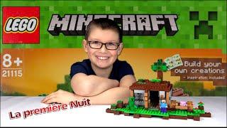 getlinkyoutube.com-LEGO MINECRAFT - Unboxing & construction La première Nuit | Family Geek