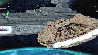 getlinkyoutube.com-✔ Star Wars Battlefront 2 Mods - Battle of Endor - Space - Millennium Falcon