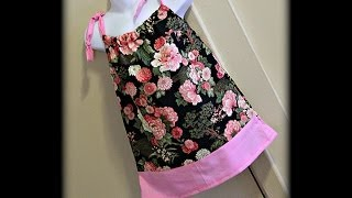 getlinkyoutube.com-Pillowcase Dress (Using One Pattern To Create Another)