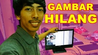 getlinkyoutube.com-TV LED Toshiba Gambar Hilang Setengah VLOG24