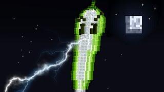 getlinkyoutube.com-Minecraft vs Zombies | GIANT LIGHTNING REED!! (Warning!) | PvZ  Land